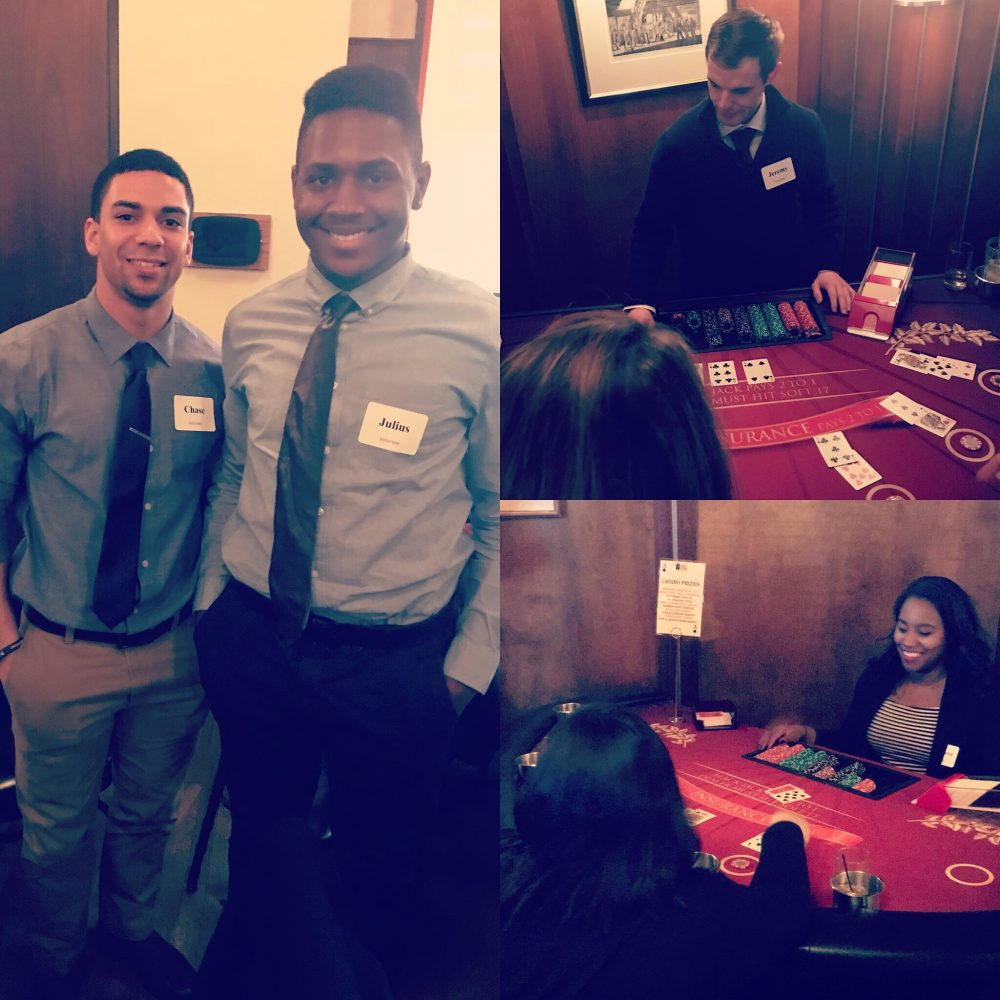 Swooners volunteered at Casino Night