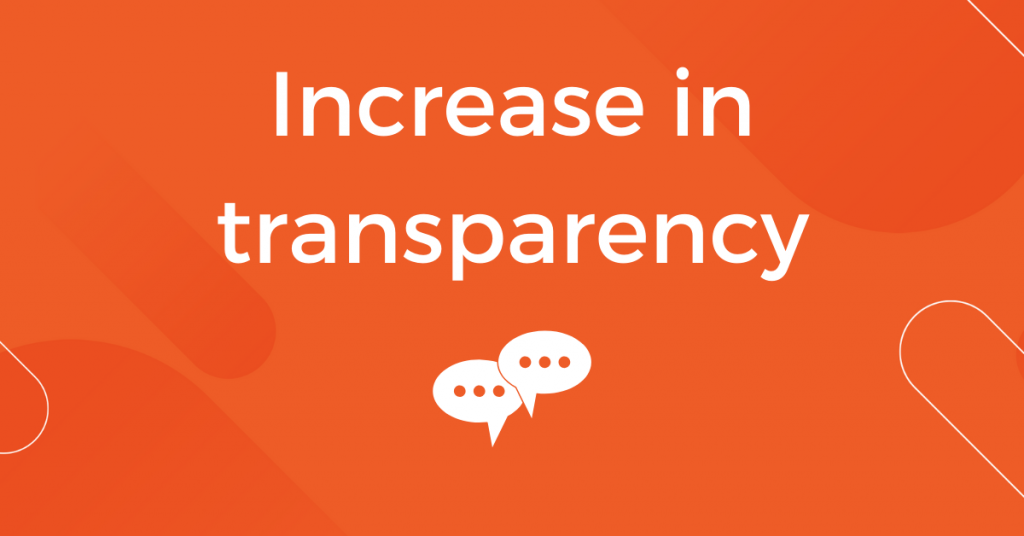 Increase in Transparency
